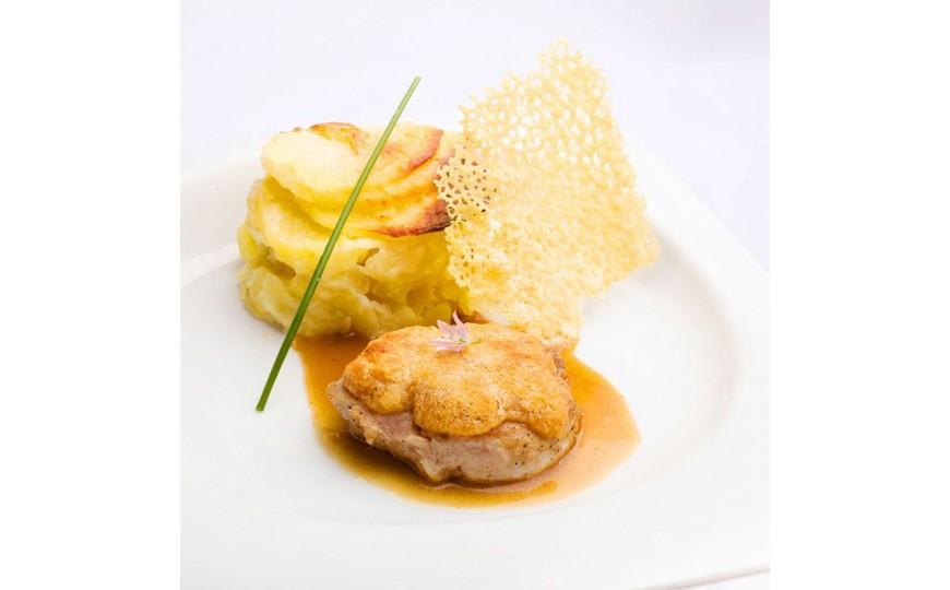 Pork tenderloin with Saint Nectaire